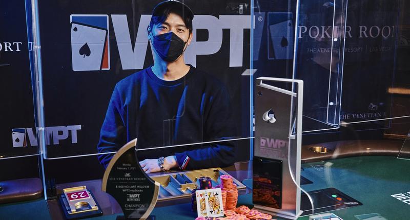 Hyun's WPTDeepStacks Venetian main event winner photo. Credit: WPT/Joe Giron