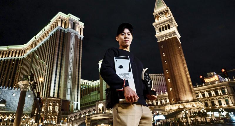 Sung Joo Hyun after winning the WPTDeepStacks Venetian main event. Credit: WPT/Joe Giron